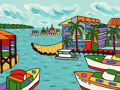 Painting - Cedar Cove Marina - Cedar Key by Mike Segal