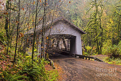 Photograph - Cedar Creek Covered Bridge by Sonya Lang