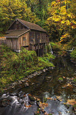 Cedar Creek Grist Mill 2 Art Print by Mark Kiver