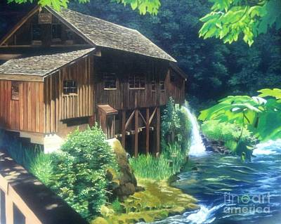 Grist Mill Painting - Cedar Creek Grist Mill by Cireena Katto