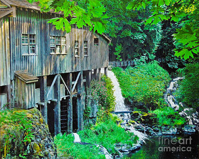 Mixed Media - Cedar Creek Grist Mill by L J Oakes