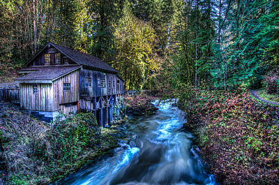 Cedar Creek Grist Mill Art Print by Puget  Exposure