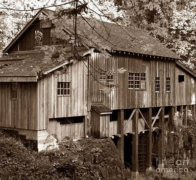 Photograph - Cedar Creek Grist Mill Sepia by Chalet Roome-Rigdon