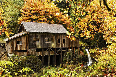 Photograph - Cedar Creek Grist Mill by Wade Crutchfield