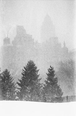 Photograph - Cedar Hill Snow Shapes by Dave Beckerman