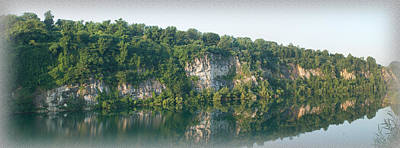 Photograph - Cedar Hollow Quarry Panorama by Michael Porchik