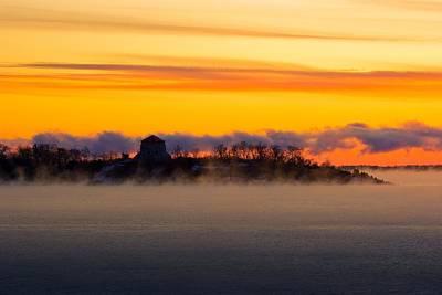 Cedar Island Morning Mist Art Print by Paul Wash