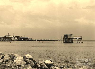 Photograph - Cedar Key - Sepia by D Hackett