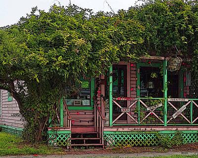 Cedar Key Photograph - Cedar Key Antiques And Curiosities  by Rebecca Korpita