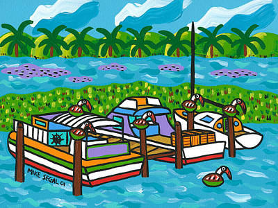 Painting - Cedar Key Bayou by Mike Segal