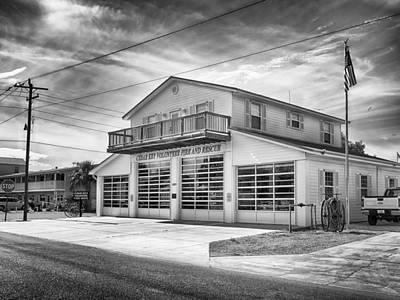 Photograph - Cedar Key Fire Station by Howard Salmon
