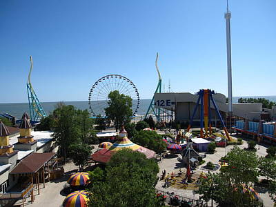 Cedar Photograph - Cedar Point - 121218 by DC Photographer