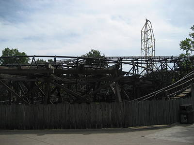 Cedar Point - Cedar Creek Mine Ride - 12121 Art Print by DC Photographer
