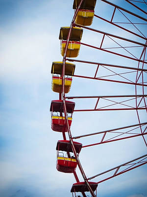 Photograph - Cedar Point - Giant Wheel 2 by Shawna Rowe