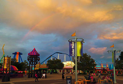 Photograph - Cedar Point - Midway by Shawna Rowe