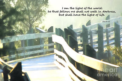 Photograph - Cedar Point Morning Walk With Bible Verse by Sandra Clark
