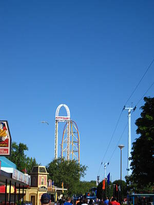 Drag Photograph - Cedar Point - Top Thrill Dragster - 12122 by DC Photographer