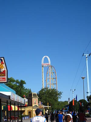Drag Photograph - Cedar Point - Top Thrill Dragster - 12123 by DC Photographer
