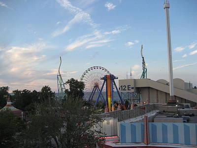 Cedar Point - Wicked Twister - 12121 Art Print by DC Photographer