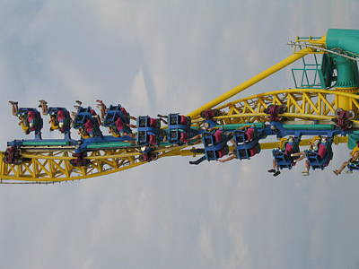 Wicked Photograph - Cedar Point - Wicked Twister - 121210 by DC Photographer