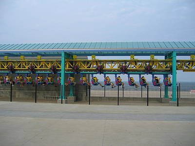 Cedar Point - Wicked Twister - 121211 Art Print by DC Photographer