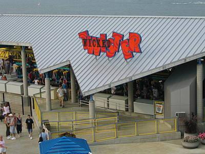 Cedar Point - Wicked Twister - 12127 Art Print by DC Photographer