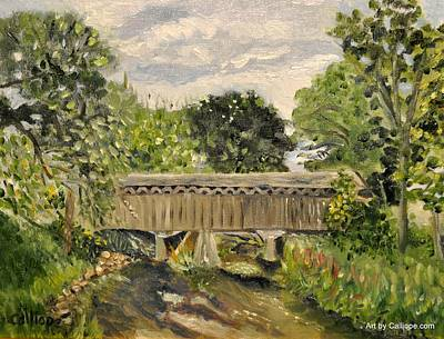 Painting - Cedarburg Covered Bridge by Calliope Thomas