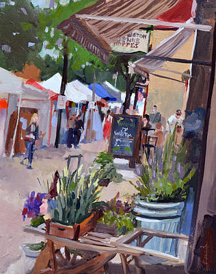 Painting - Cedarburg Strawberry Festival by Anthony Sell