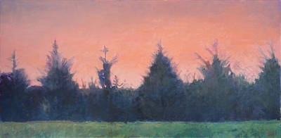 Painting - Cedars Along St. Marys In Hillsborough by Jude Lobe