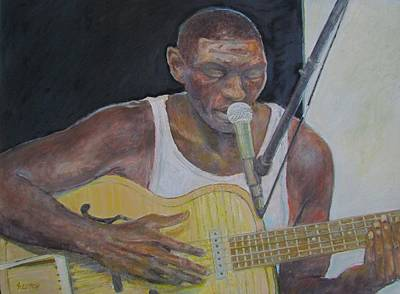 Painting - Cedric Burnside by Sandra Lytch