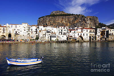 Port Town Photograph - Cefalu - Sicily by Stefano Senise