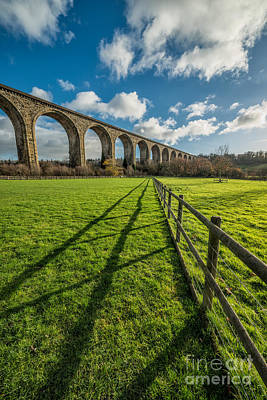 Fence Digital Art - Cefn Viaduct Chirk by Adrian Evans