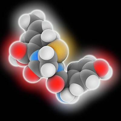 Cefprozil Drug Molecule Art Print by Laguna Design
