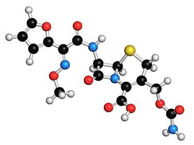 Molecule Photograph - Cefuroxime Antibiotic Molecule by Molekuul