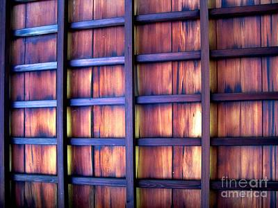 Photograph - Ceiling At The Japanese House Philadelphia Usa by Ausra Huntington nee Paulauskaite