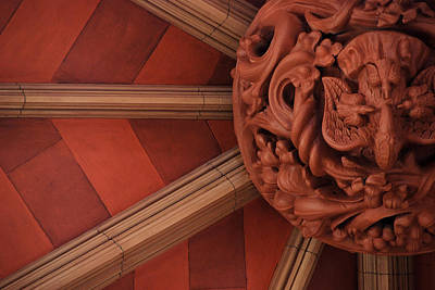 Photograph - Ceiling Boss Detail by John Schneider