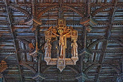 Womens Empowerment - Ceiling Detail in St. Davids Cathedral by Paul Williams