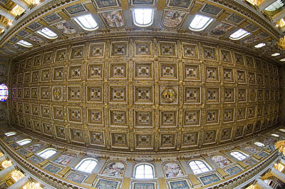 St Peters Basilica Photograph - Ceiling Details Of A Church, St. Peters by Panoramic Images