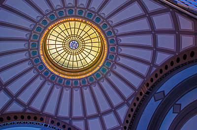 Photograph - Ceiling In The Chattanooga Choo Choo Train Depot by Susan  McMenamin