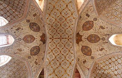 Safavid Photograph - Ceiling Inside The Ali Qapu Palace At Isfahan In Iran by Robert Preston
