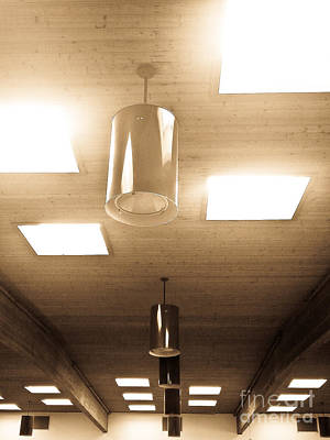 Photograph - Ceiling Lights by Fei Alexander