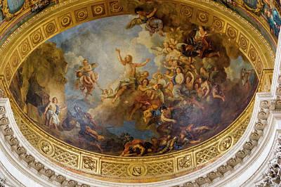 Ceiling Murals Versailles France Art Print by Tom Norring