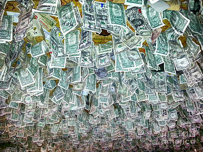 James Insogna Photograph - Ceiling Of Dollar Bills  by James BO  Insogna