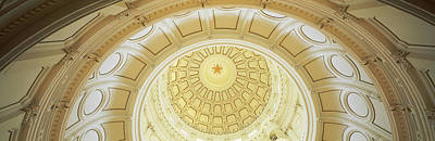 Capitol Building Photograph - Ceiling Of The Dome Of The Texas State by Panoramic Images