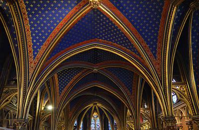 Photograph - Ceiling Of The Sainte-chapelle  Paris by RicardMN Photography