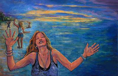 Dancing On The Beach Painting - Celebrate 2008 by Susi LaForsch