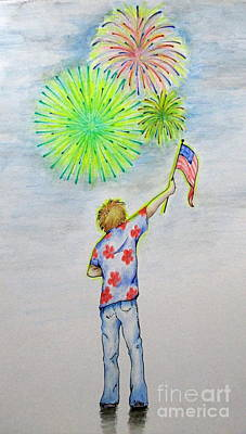 Independence Day Flag Mixed Media - Celebrate America by Catherine Howley