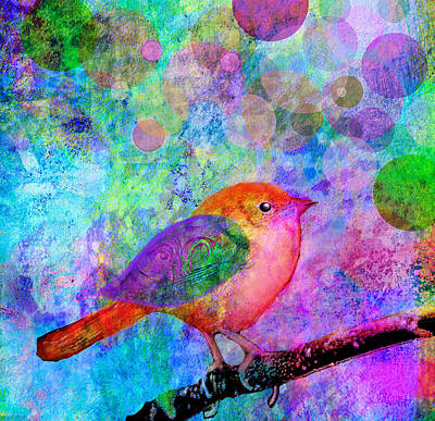 Digital Watercolor Painting - Celebrate by Robin Mead