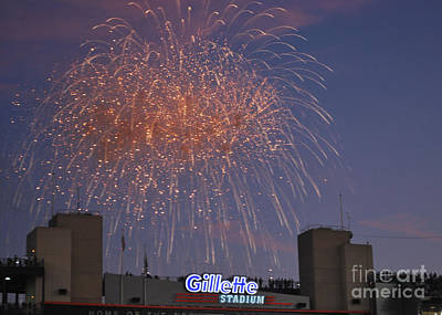 Gillette Stadium Photograph - Celebrate by Terri Oberg