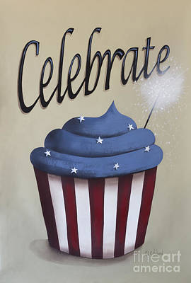 4th Of July Painting - Celebrate The 4th Of July by Catherine Holman